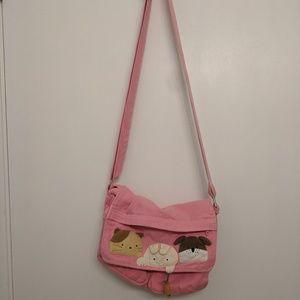 VERY CUTE KAWAII PINK MESSENGER BAG